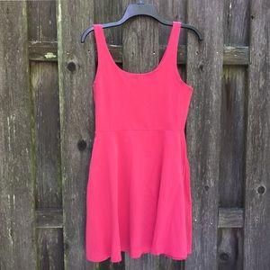 Express sleeveless coral mini dress, EUC